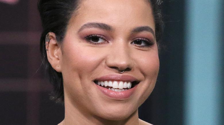 Jurnee Smollett smiling