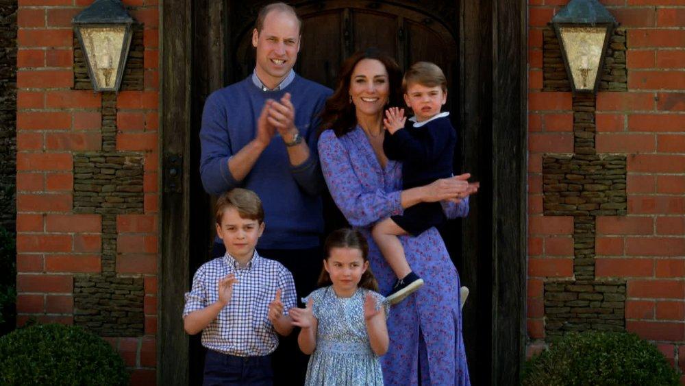 Prince William, Kate Middleton, Prince George, Princess Charlotte and Prince Luis