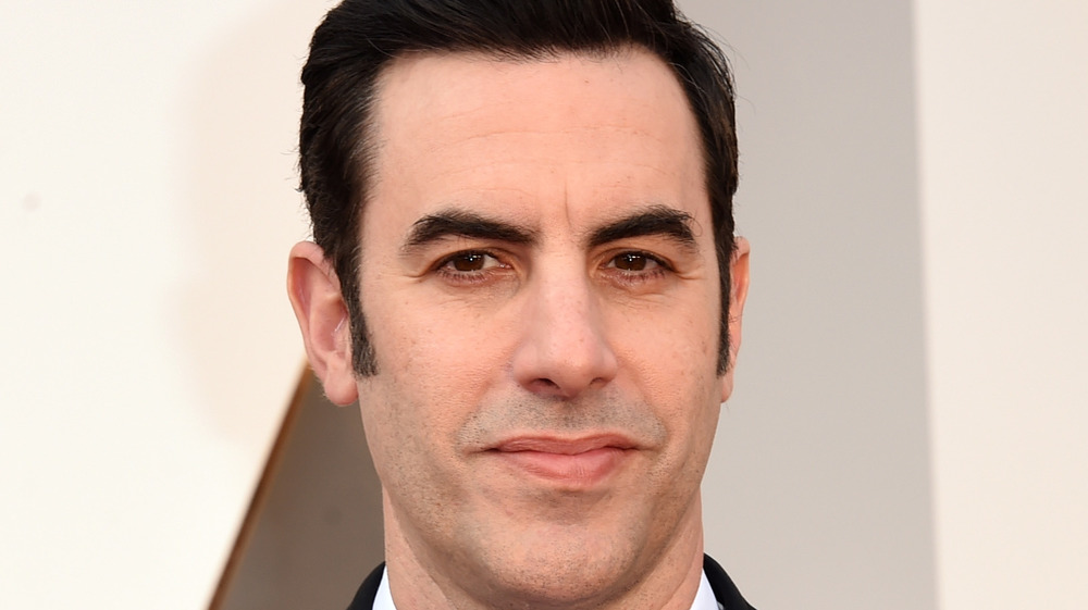 Sacha Baron Cohen poses on the red carpet