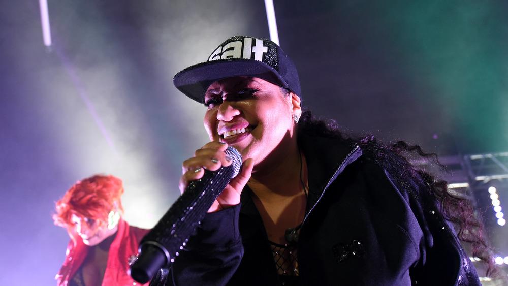 """Cheryl """"Salt"""" James performing onstage"""