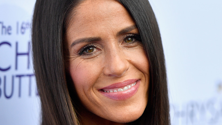 Soleil Moon Frye smiles on the red carpet