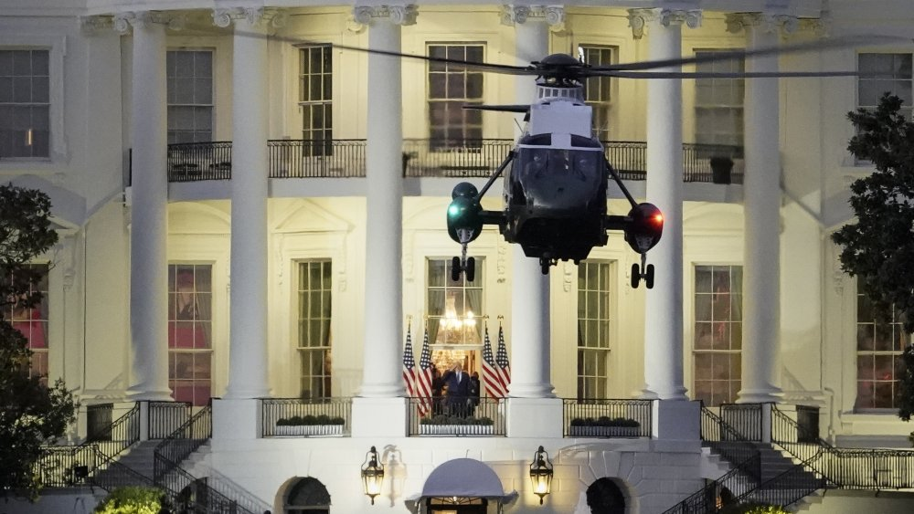 Donald Trump arriving at White House