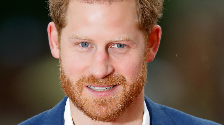 Prince Harry makes an appearance at an event.