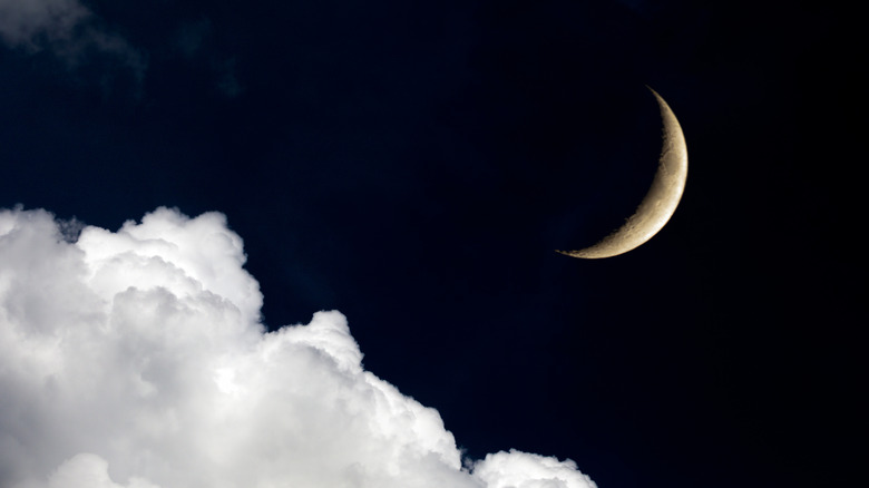 The moon and sky