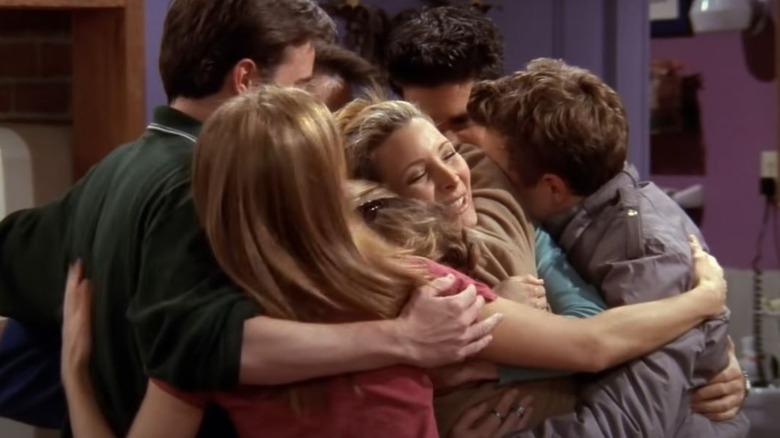 Group hug on Friends