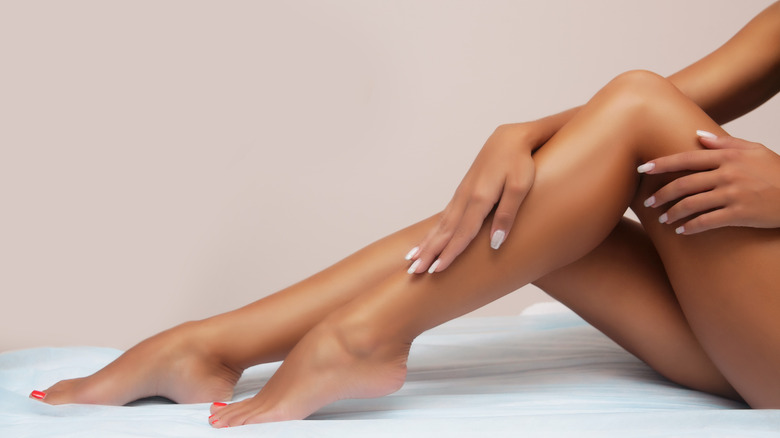 woman with smooth legs