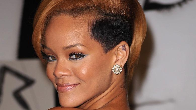 Rihanna with an undercut in 2009