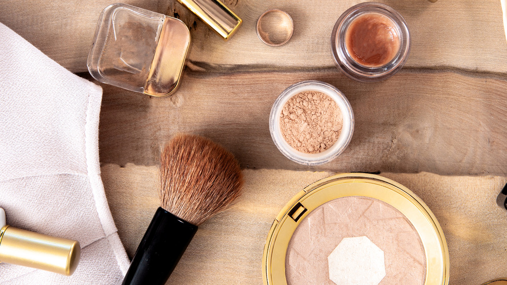Foundation makeup and brush