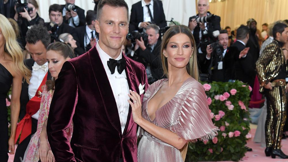 Tom Brady and Gisele Bundchen on red carpet