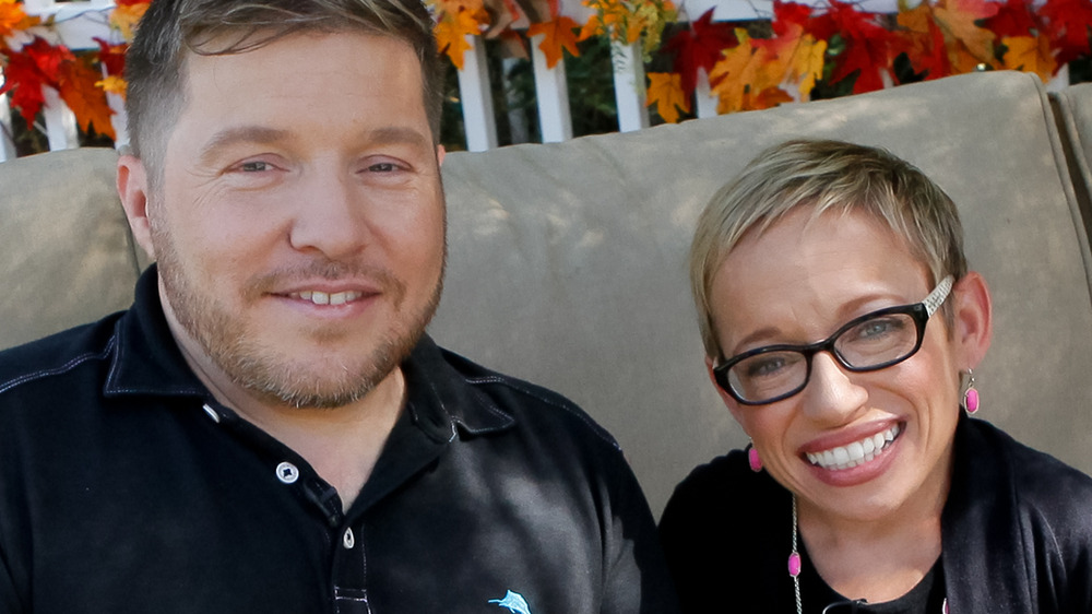 Bill Klein and Jen Arnold smile