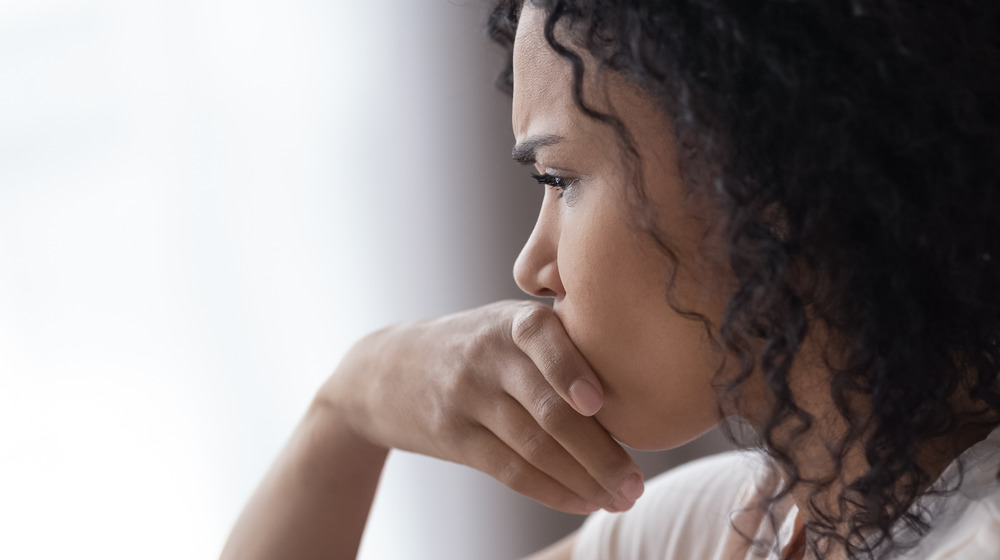 woman thinking about bad relationship