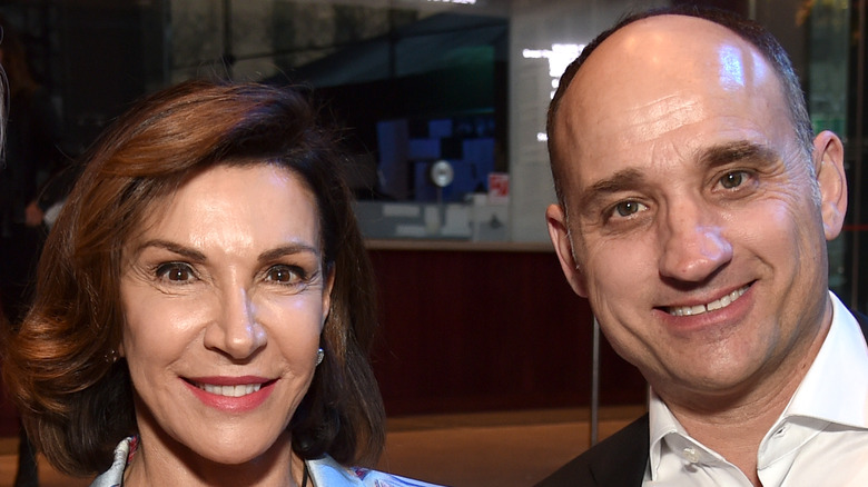 Hilary Farr and David Visentin at the 2018 Discovery Upfront