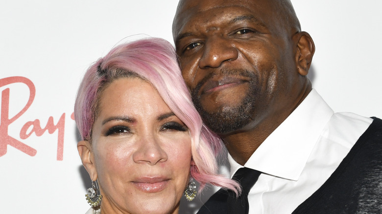 Terry Crews with wife Rebecca King-Crews on the red carpet