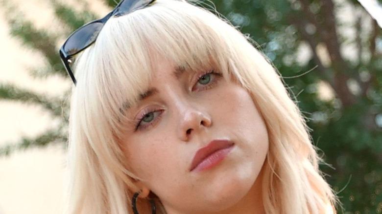 Billie Eilish posing for photo
