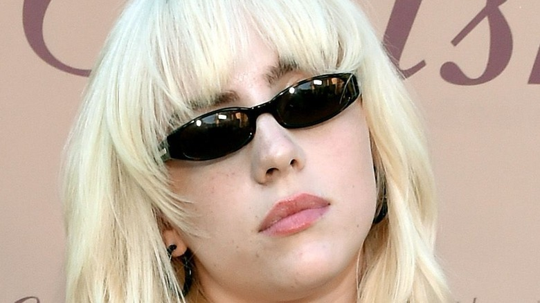 Billie Eilish sporting blonde hair
