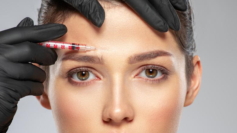Woman having a botox treatment
