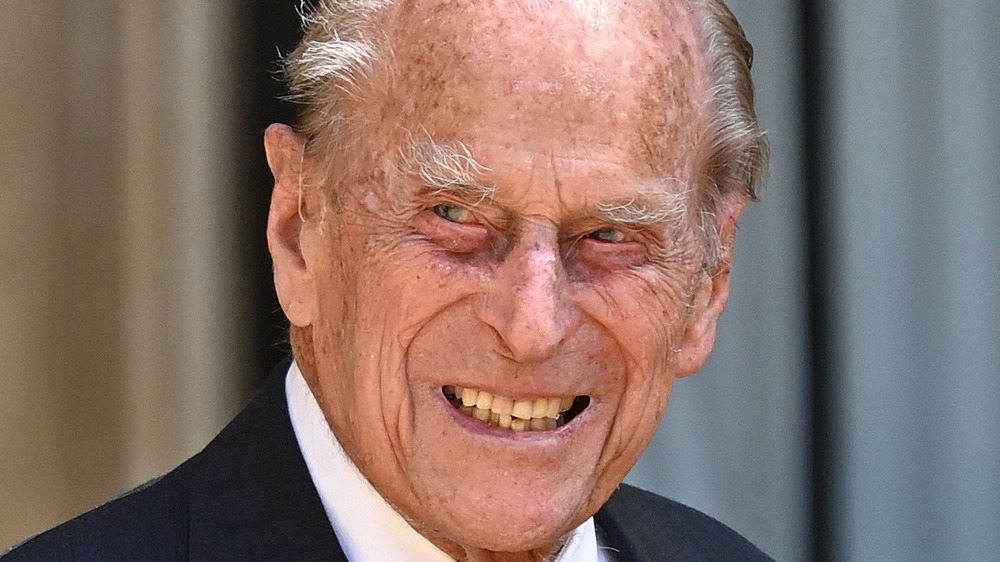 Prince Philip smiling on an outing