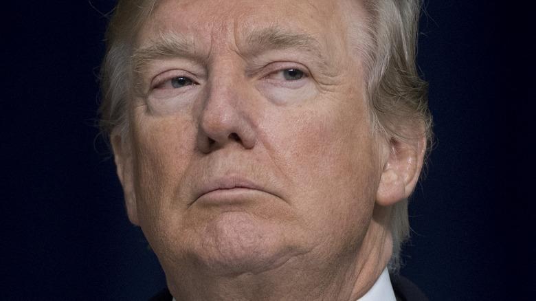 Donald Trump looking stern