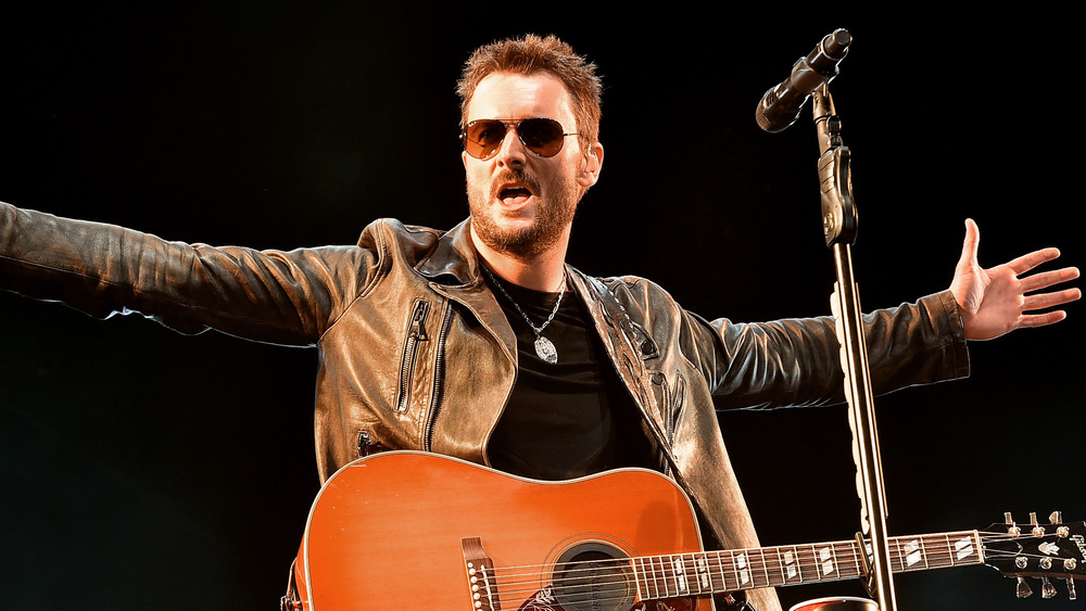 Eric Church wearing Ray-Bans onstage