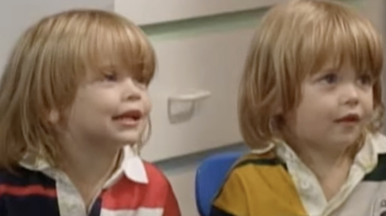 Dylan and Blake Tuomy-Wilhoit as Alex and Nicky on Full House