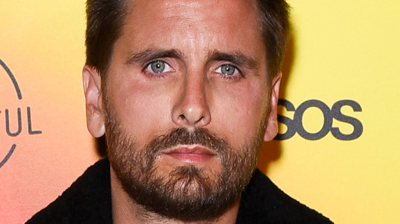 Scott Disick poses on the red carpet