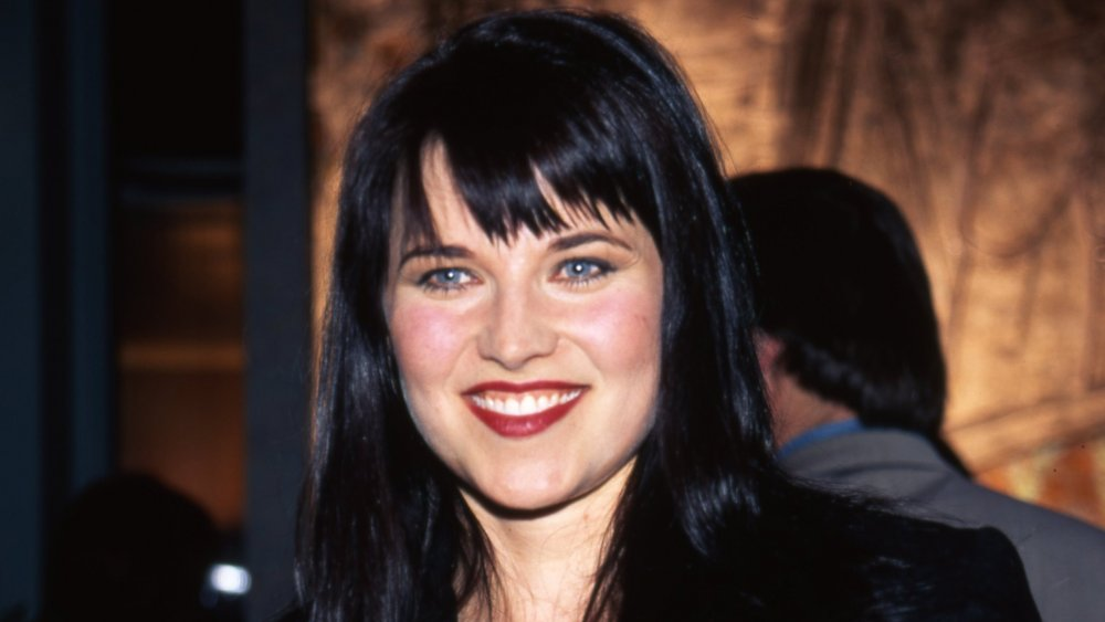 Lucy Lawless at a Xena premiere in 1996