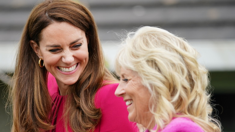 Jill Biden and Kate Middleton in Cornwall