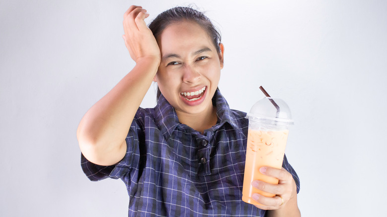 Image of someone experiencing brain freeze
