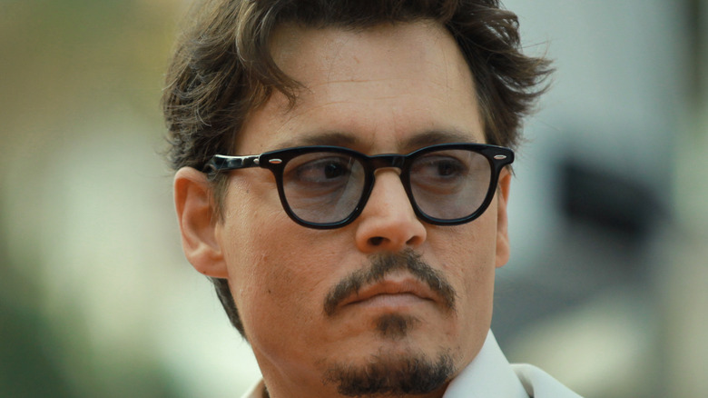 Johnny Depp pictured up close