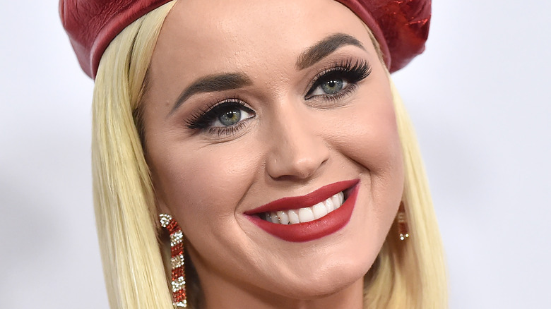 Katy Perry in red beret