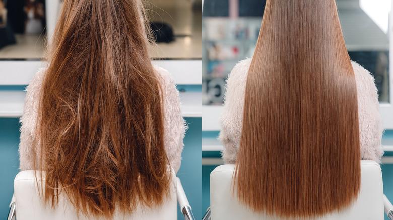 Hair straightening treatment