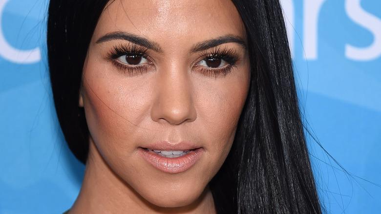 Kourtney Kardashian poses