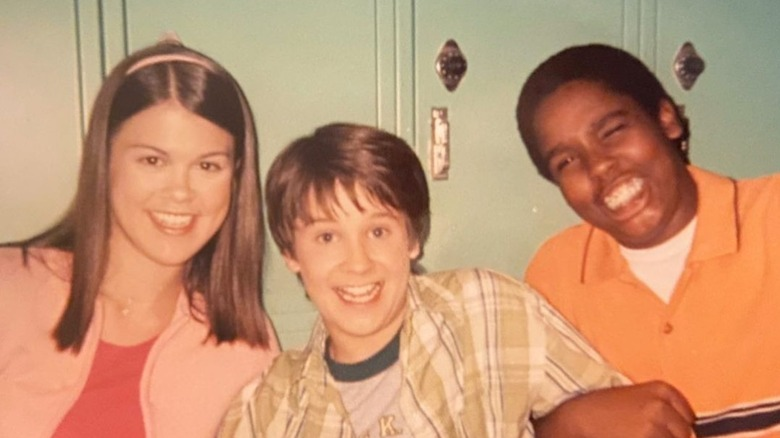 Lindsey Shaw, Devon Werkheiser and Daniel Curtis Lee on the set of Ned's Declassified