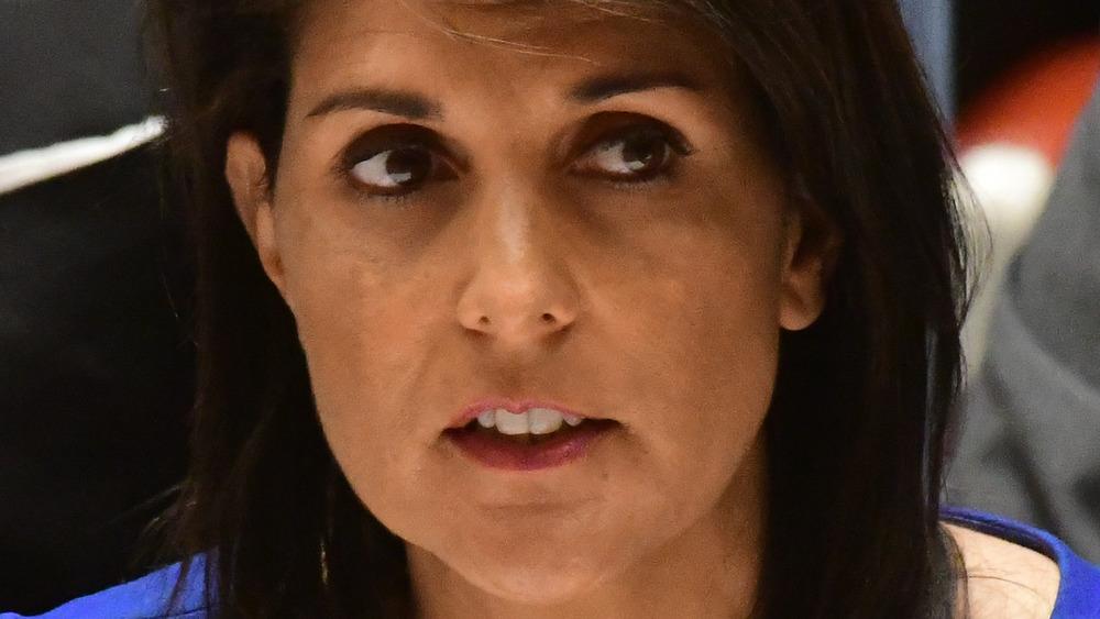 Nikki Haley looking serious
