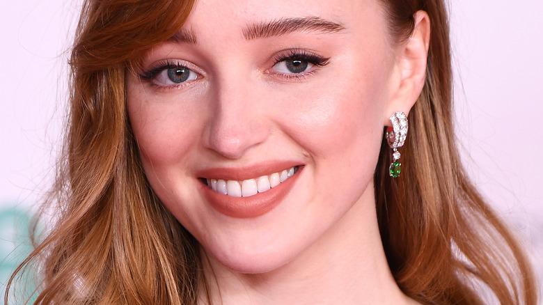 Phoebe Dynevor smiling