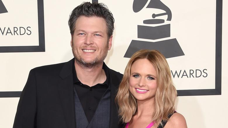 Blake Shelton and Miranda Lambert at the 2014 Grammy Awards