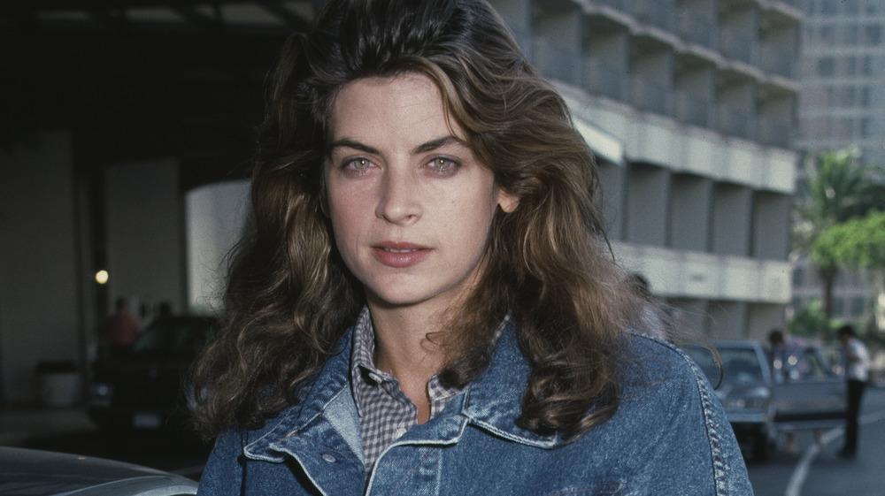 Kirstie Alley wearing denim in 1987