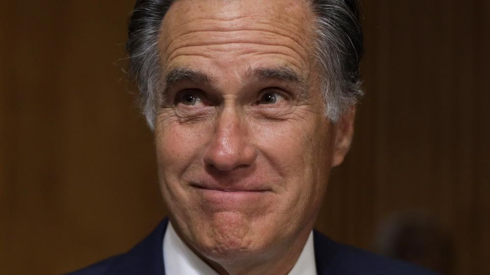Mitt Romney smirking