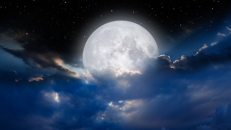 A full moon in the sky