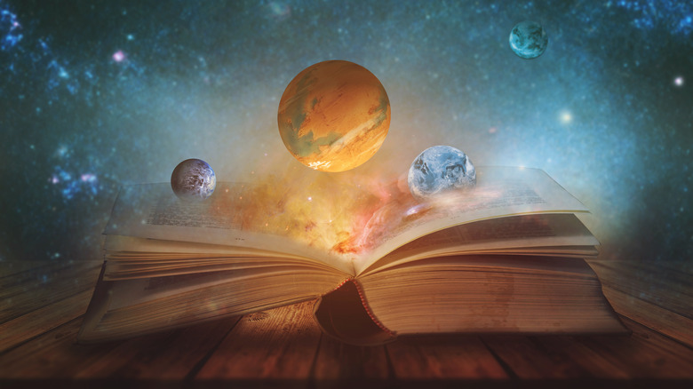 Planets and a book