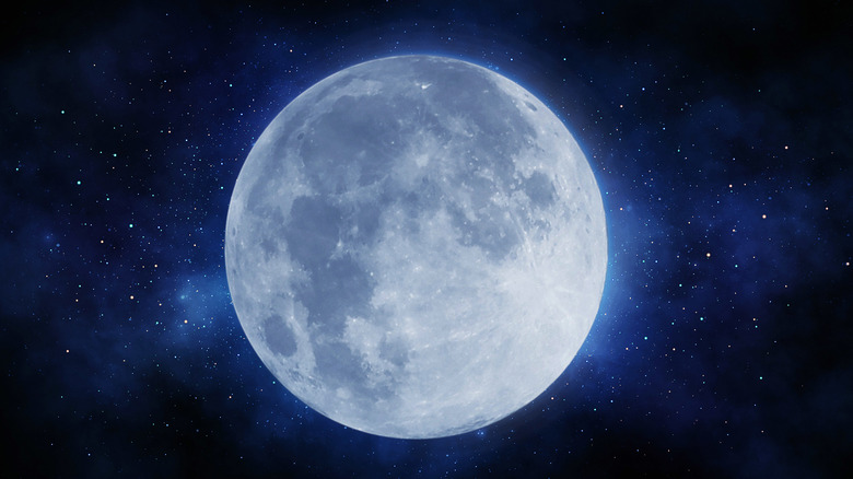 Full moon in outer space