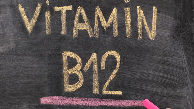 Chalkboard reading Vitamin B12
