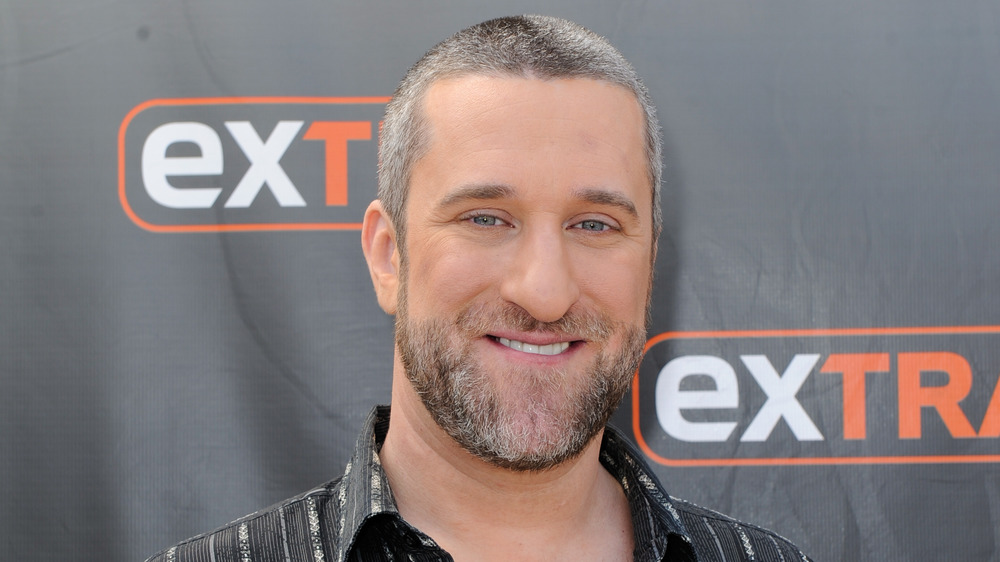 Dustin Diamond on a step-and-repeat