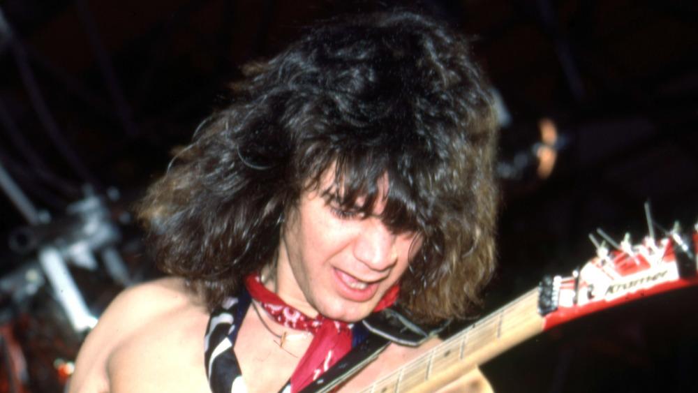 Legendary rocker Eddie Van Halen in concert in 1984