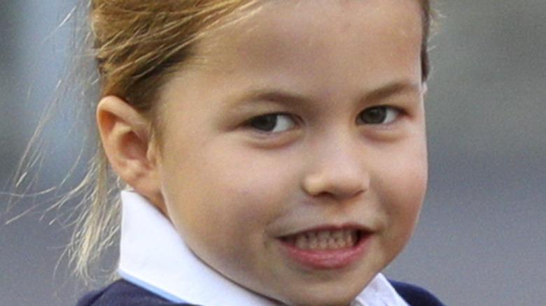 Princess Charlotte smiling hair back