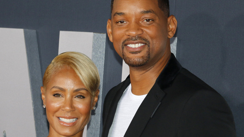 Jada Pinkett Smith and Will Smith on the red carpet