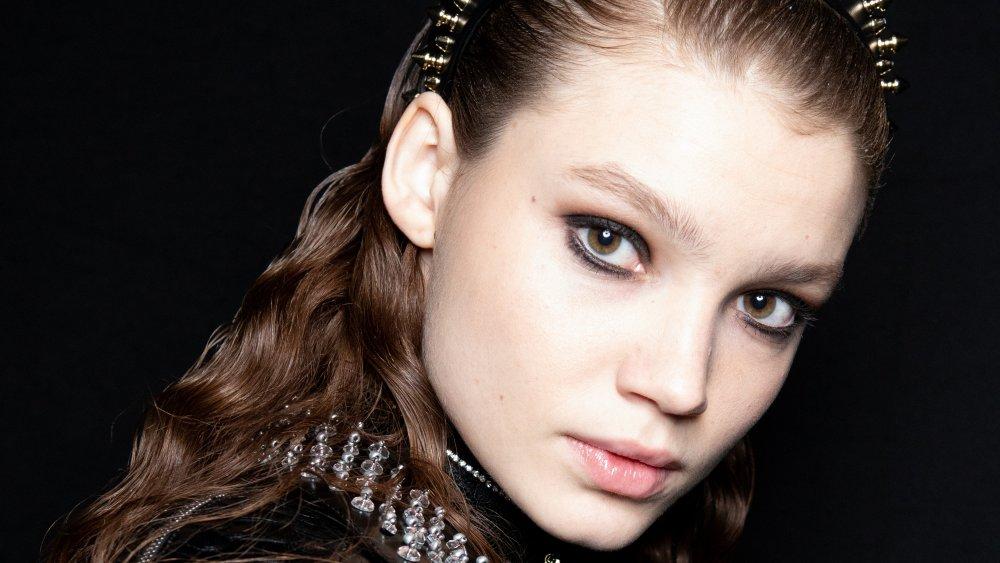 model with eyeliner