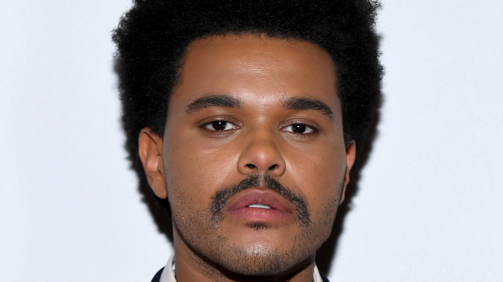 The Weeknd posing