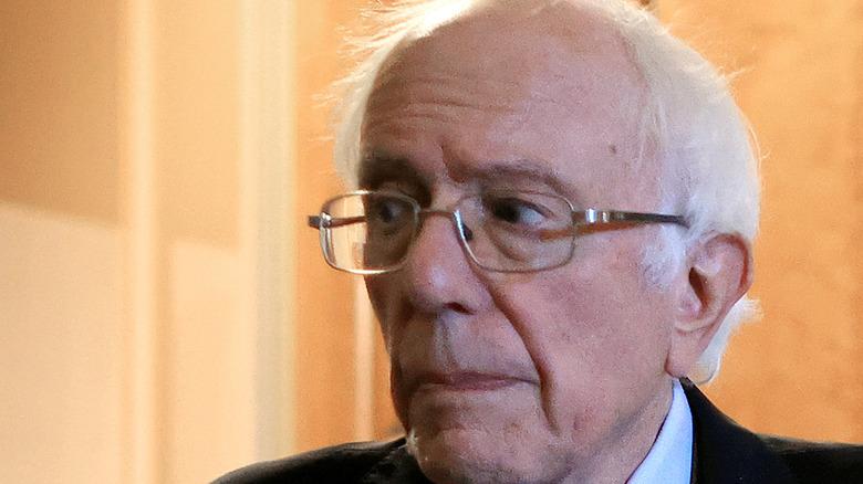 Bernie Sanders looking concerned