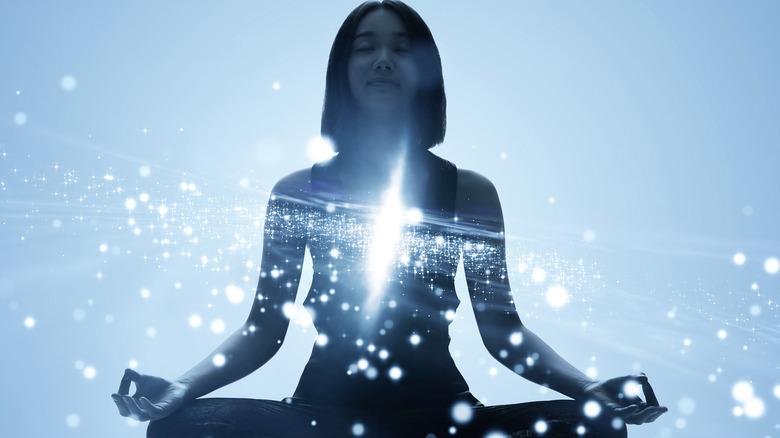 woman sitting meditation